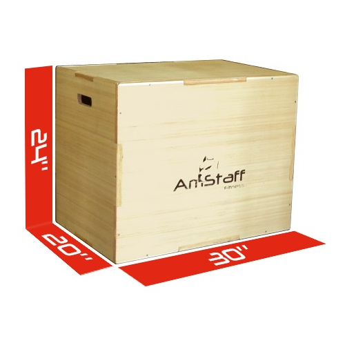 AmStaff Fitness 3-in-1 Flat Pack Wood Plyometric Box