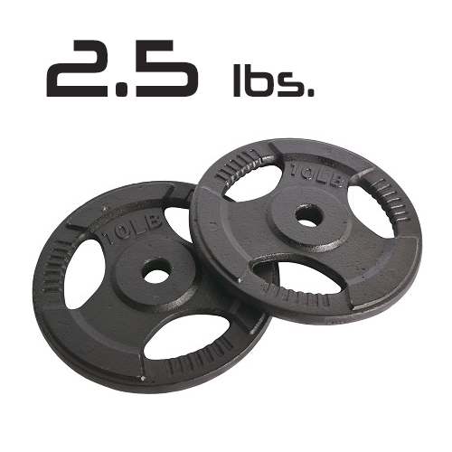 2.5lbs Cast Iron Grip Olympic Plates 2 Inch