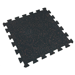 "Interlocking Rubber Tile 24"" x 24"" x 7mm - Red Speckle"