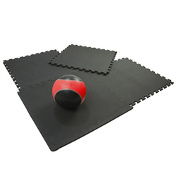 Black Heavy-Duty Interlocking Foam Mat