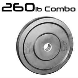 260lbs Bumper Weight Plates 2 Inch Set