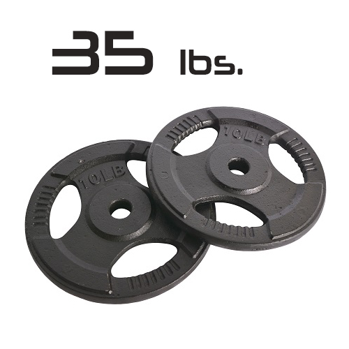 35lbs Cast Iron Grip Olympic Plates 2 Inch