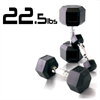 22.5 Rubber Coated Hex Dumbbell