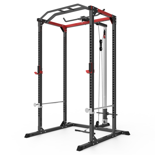 AmStaff Fitness TP032E Power / Squat Rack with Lat/Pull Down Attachment