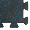 "Additional images for Interlocking Rubber Tile 24"" x 24"" x 7mm - Blue Speckle"