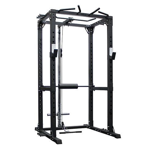 AmStaff Fitness 370  Commercial Power / Squat Rack with Lat/Pull Down Attachment