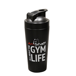 AmStaff Fitness Stainless Steel Shaker Bottle - Black