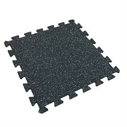 "Interlocking Rubber Tile 24"" x 24"" x 7mm - Grey Speckle"