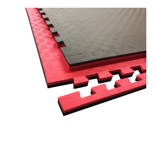 Taekwondo Interlocking Double Sided Foam Floor – Red & Black