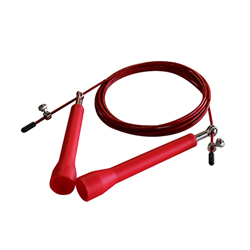 AmStaff Pro Revolver Wire Cable Speed Jump Rope - Red