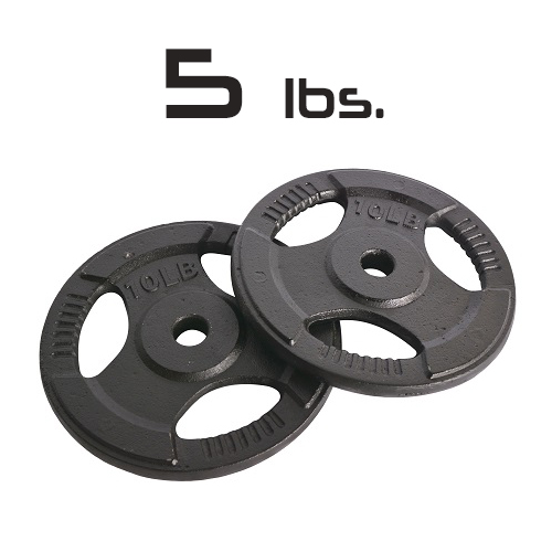 5lbs Cast Iron Grip Olympic Plates 2 Inch