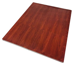 Dark Wood Heavy-Duty Interlocking Foam Mat
