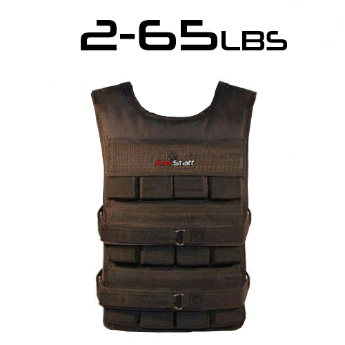 From 2lbs to 65lbs Commercial Adjustable Athletic Weighted Vest