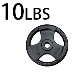 10lbs Rubber Grip Olympic Plates 2 Inch