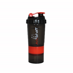 AmStaff Fitness Shaker Bottle with 2 Storage Jars