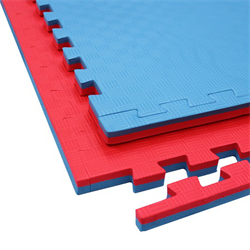 Taekwondo Interlocking Double Sided Foam Floor – Red & Blue