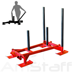 AmStaff Fitness Prowler Sled Pro - Red