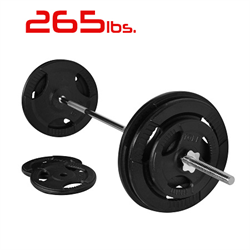 265lbs Cast Iron Grip Standard Weight Plate Set 1 Inch
