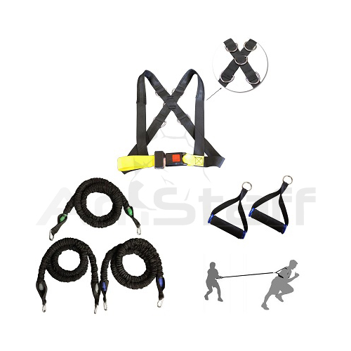 Speed & Strength Training Bands & Harness Set