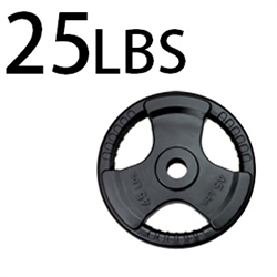 25lbs Rubber Grip Olympic Plates 2 Inch