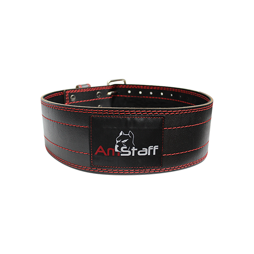 AmStaff Fitness Leather Powerlifting Belt - Large