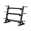 Additional images for 5 - 45lbs Dumbbell Set w/ 255lbs Cast Iron Olympic Set & Storage Rack