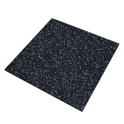 "Rubber Mat 20"" x 20"" x 20mm - Grey Spekle"