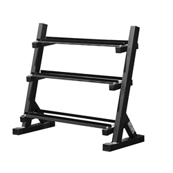 AmStaff TR007 3-Tier Commercial Dumbbell Rack Feature 40 Inch