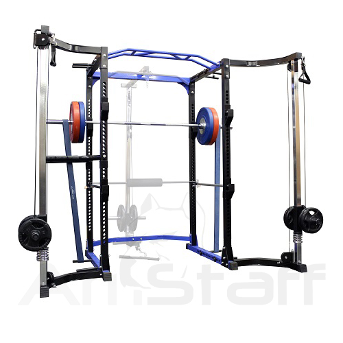 AmStaff TR023 Power / Squat Rack with Cable Crossover