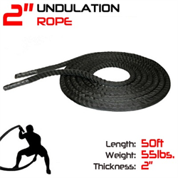 50' Undulation Rope / Battle Rope with Sleeve - 2""