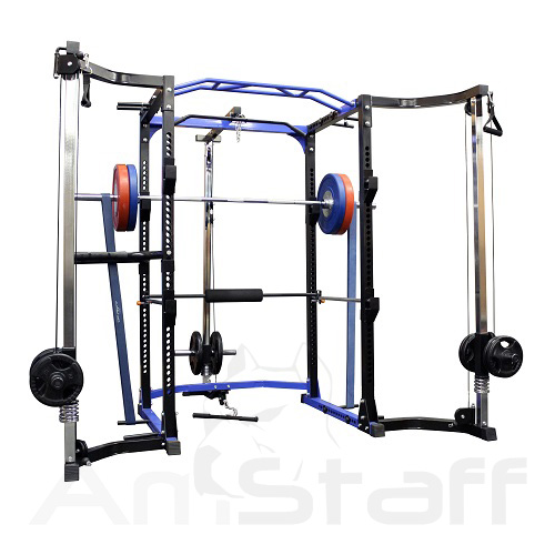 AmStaff TR023 Power / Squat Rack with Lat Pull Down & Cable Crossover