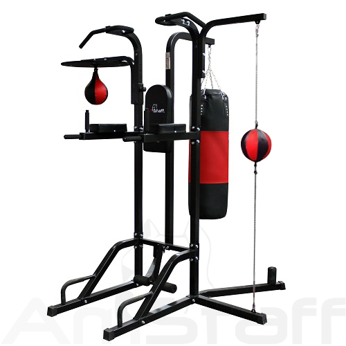 AmStaff TR055B 12-in-1 Boxing Station w/ Double-End Bag, Speedball & Heavy bag