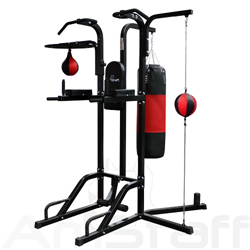 AmStaff TR055C 12-in-1 Boxing Station w/ Double-End Bag, Speedball & Heavy bag