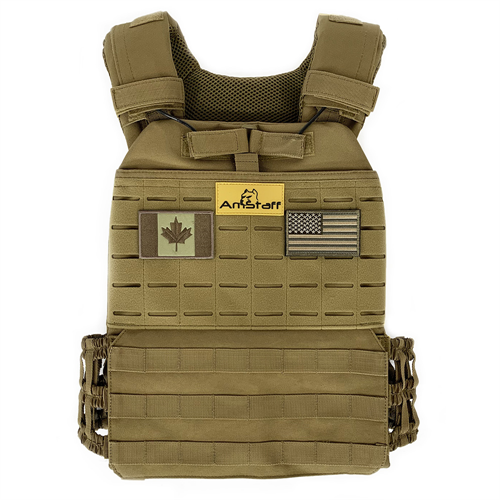 AmStaff Fitness Tactical Weighted Vest - 30lbs