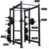 Additional images for AmStaff Fitness Commercial Monster Power Rack 2.1