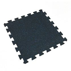 "Interlocking Rubber Tile 24"" x 24"" x 7mm - Blue Speckle"