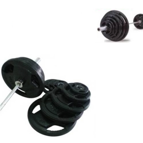 """300lbs Virgin Rubber Grip Olympic Weight Set Plates 2"""""""