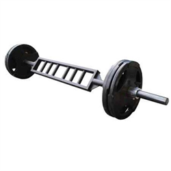 AmStaff Fitness Commercial Olympic Swiss Bar - 700lb Capacity