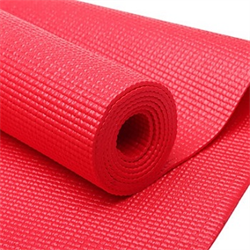 "68"" x 24"" PVC Yoga & Pilates Mat - Red"