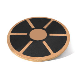 "16"" Wooden Wobble Board with Grip"