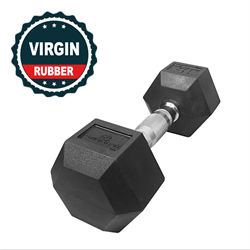 45lbs Virgin Rubber Hex Dumbbell