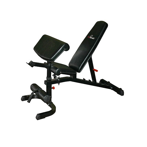 AmStaff TS010A Flat / Incline / Decline Bench w/ Curl Attachment