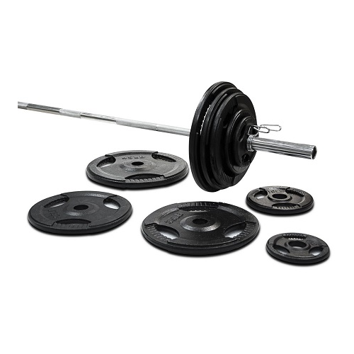 295lbs Cast Iron Grip Olympic Plate Set